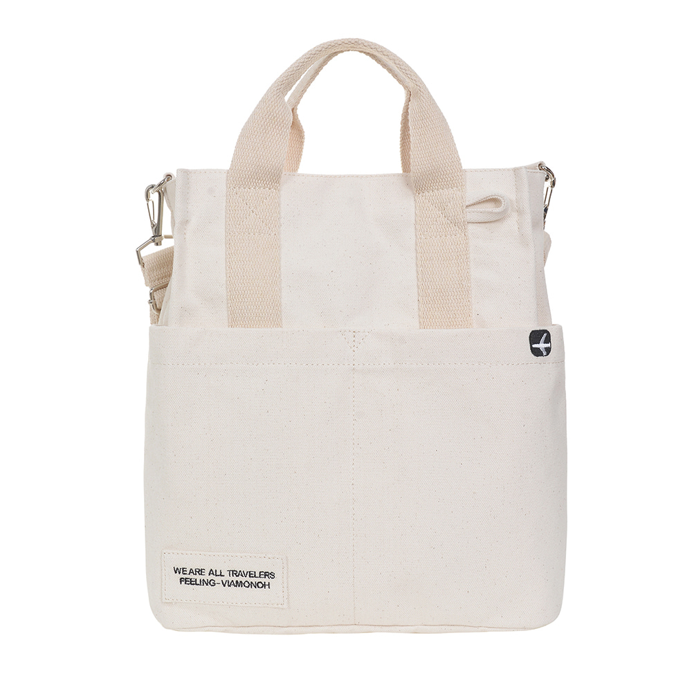 DAILY CANVAS SHOULDER BAG (IVORY)