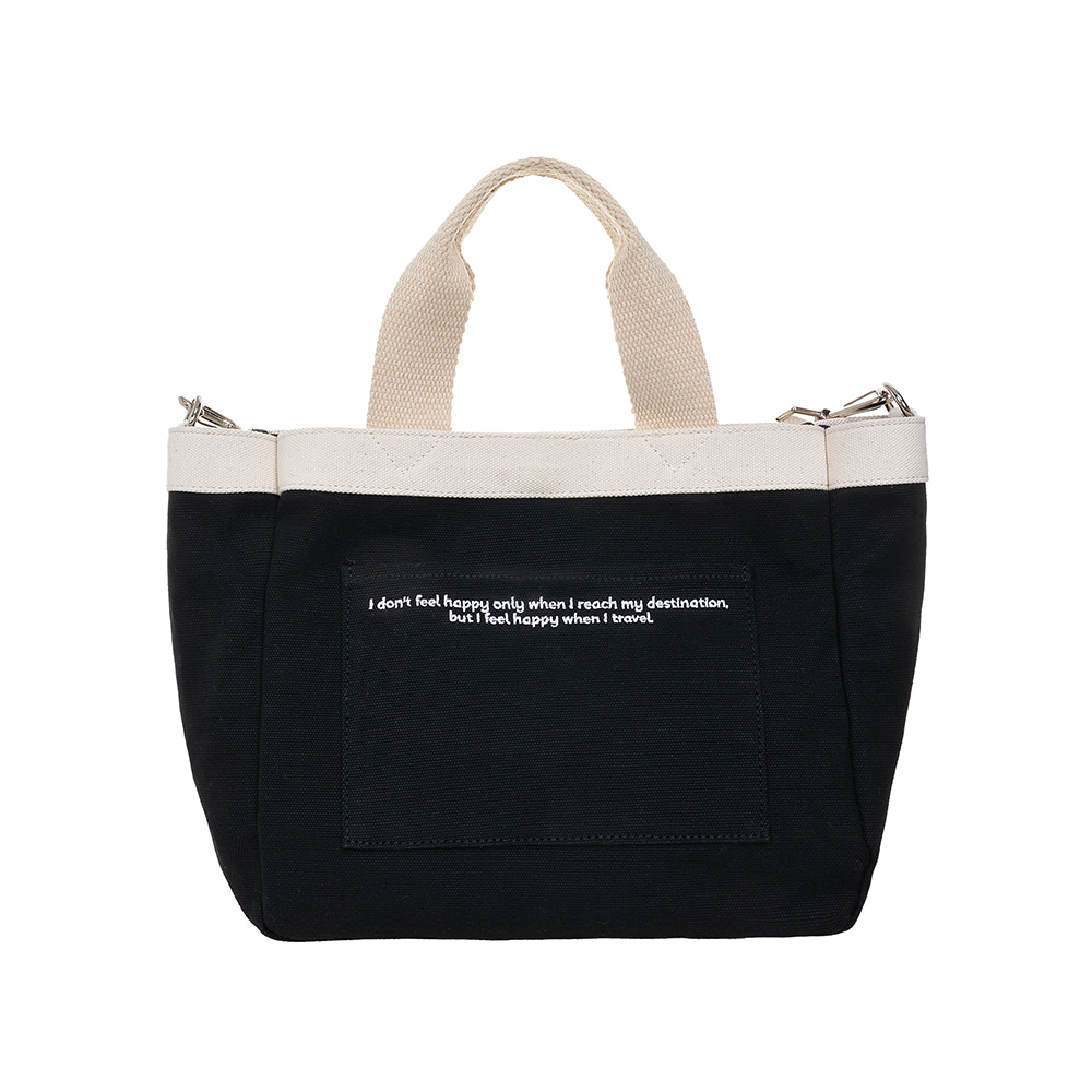 DAILY MINI TOTE CANVAS BAG (BLACK)