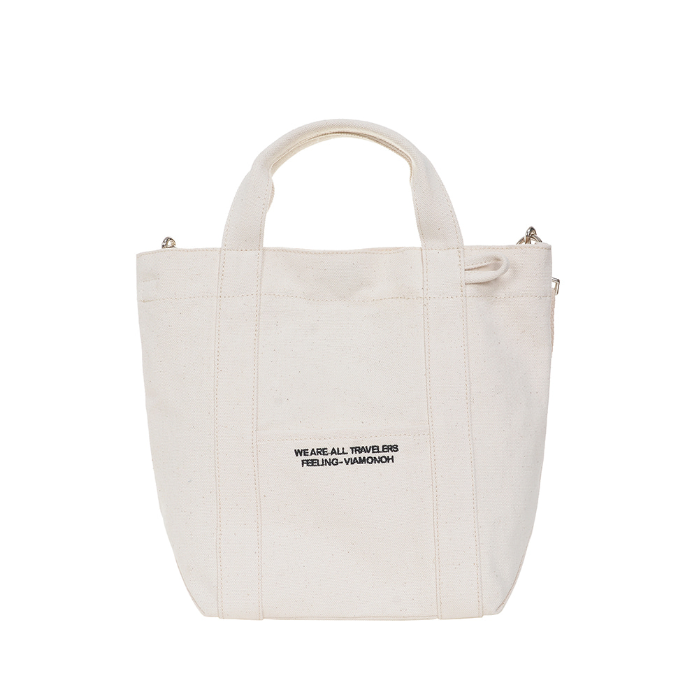 DAILY TOTE CANVAS BAG (IVORY)