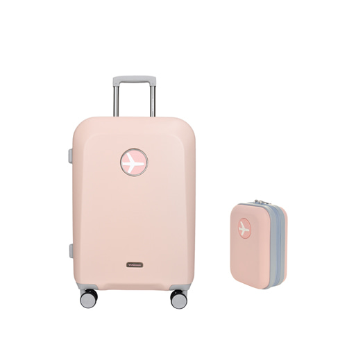 MACARON 24in TRAVELBAG + MINIMI POUCH (PINK)