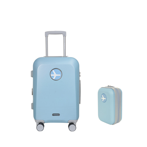 MACARON 20in TRAVELBAG + MINIMI POUCH (SKY BLUE)