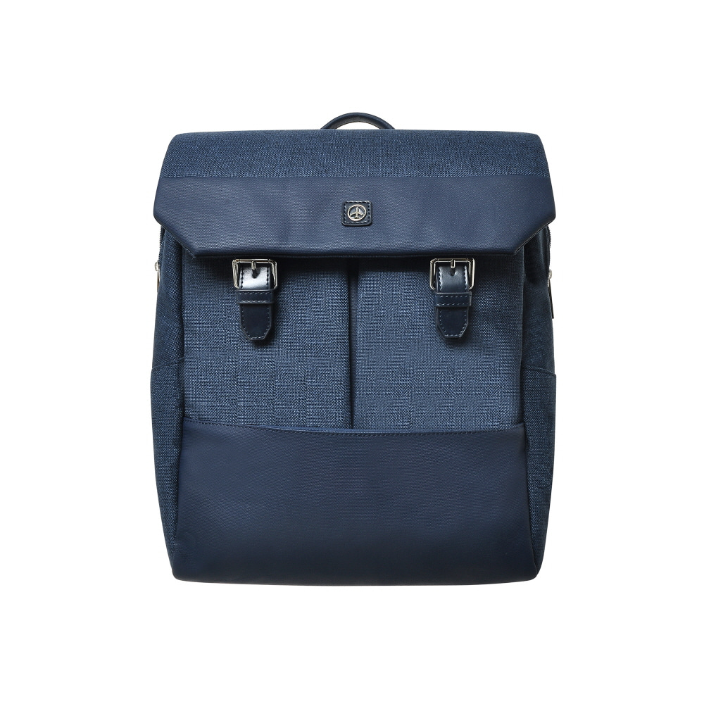 DOUBLE BUCKLE BACKPACK (NAVY)
