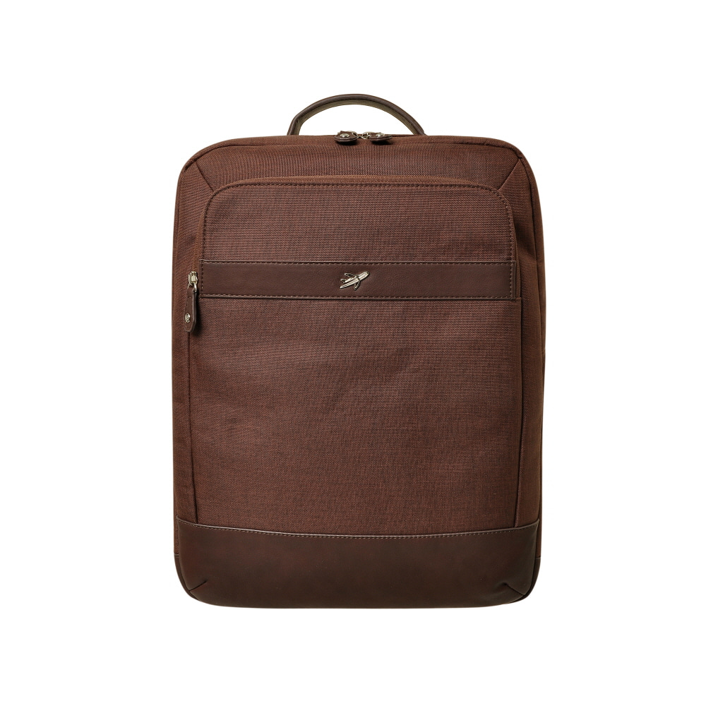 STONE BAG TO SCHOOL BASIC SQUARE BACKPACK (BROWN)