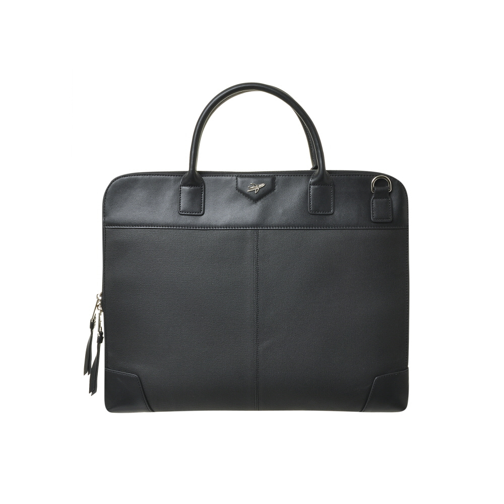 BUSINESS FLAT TOTE BAG (BLACK)