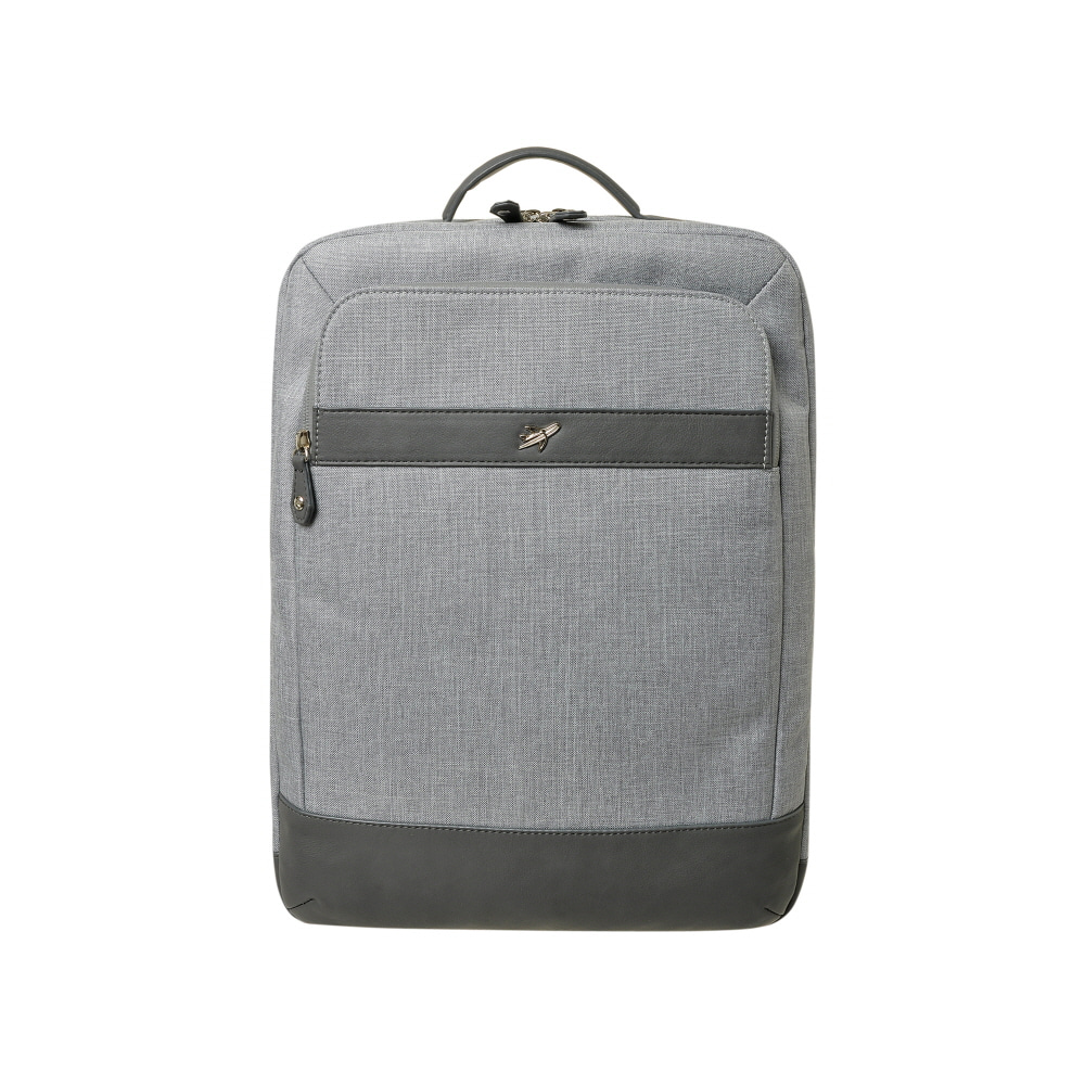 STONE BAG TO SCHOOL BASIC SQUARE BACKPACK (GRAY)