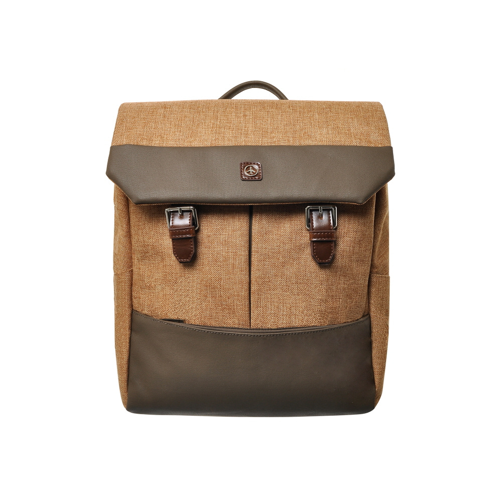 DOUBLE BUCKLE BACKPACK (BEIGE)