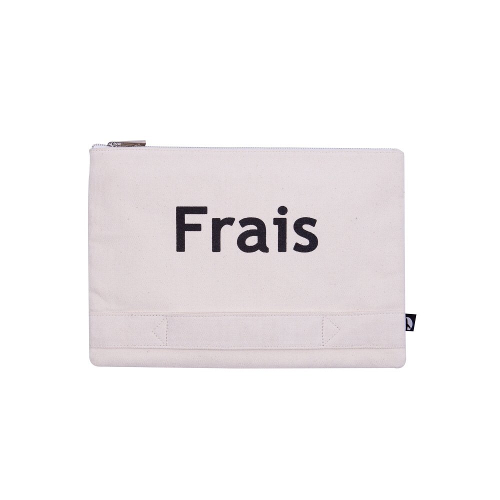 PLAYFUL CANVAS CLUTCH (IVORY)