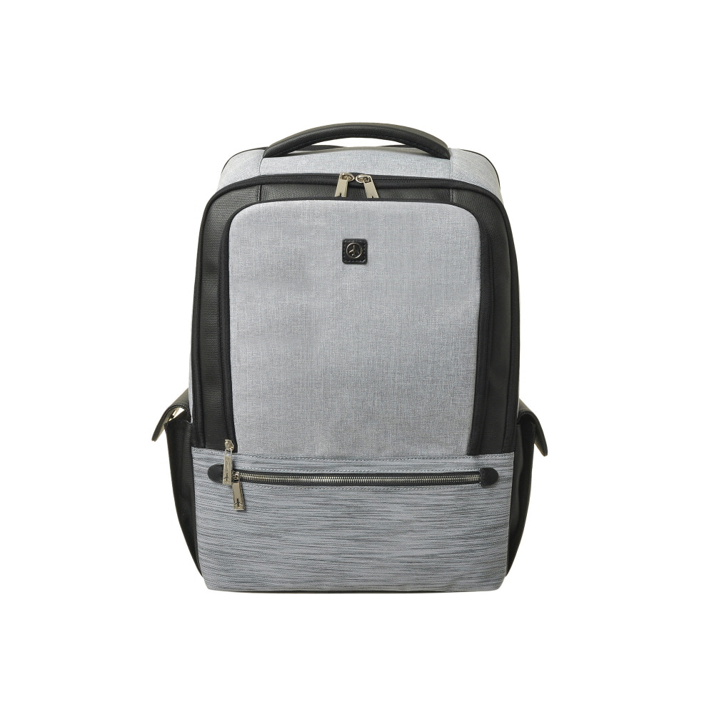 STONE BASIC SIDE POCKET BACKPACK (GRAY)