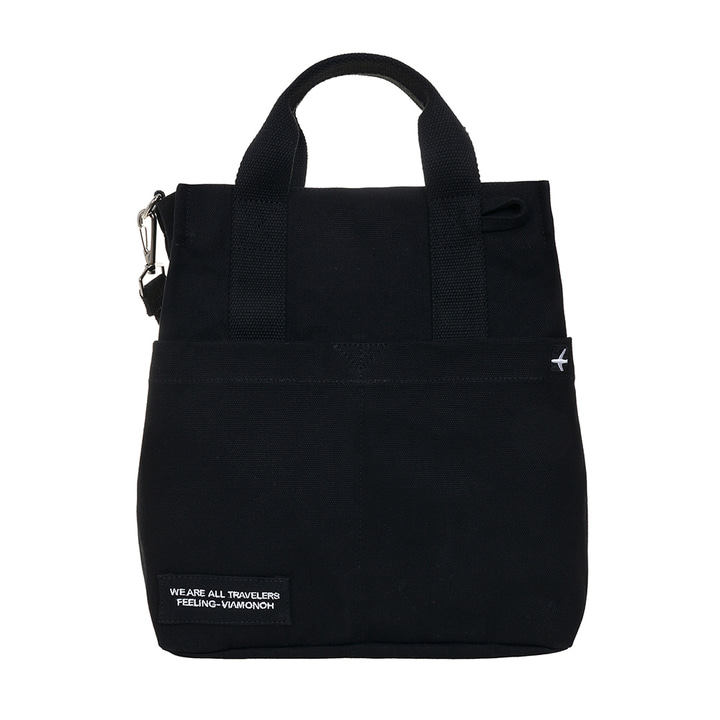 DAILY CANVAS SHOULDER BAG (BLACK)