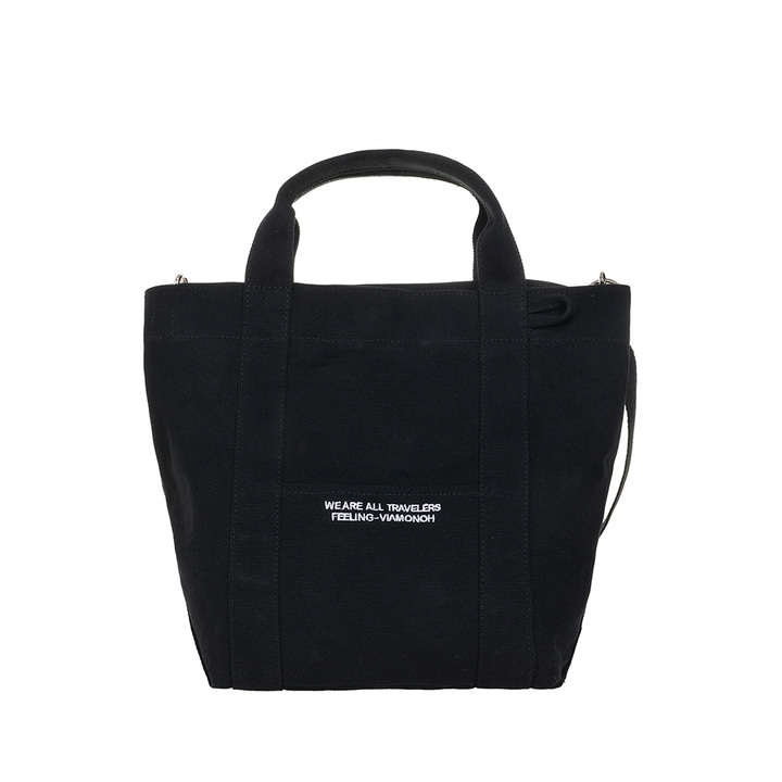 DAILY TOTE CANVAS BAG (BLACK)