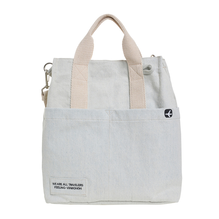 DAILY CANVAS SHOULDER BAG (DENIM)