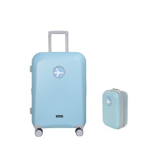 MACARON 24in TRAVELBAG + MINIMI POUCH (SKY BLUE)