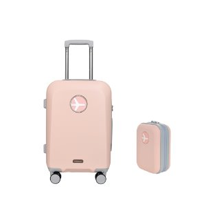 MACARON 20in TRAVELBAG + MINIMI POUCH (PINK)
