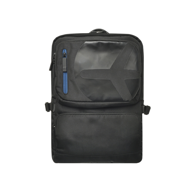 TWO POCKET BACKPACK (BLACK)