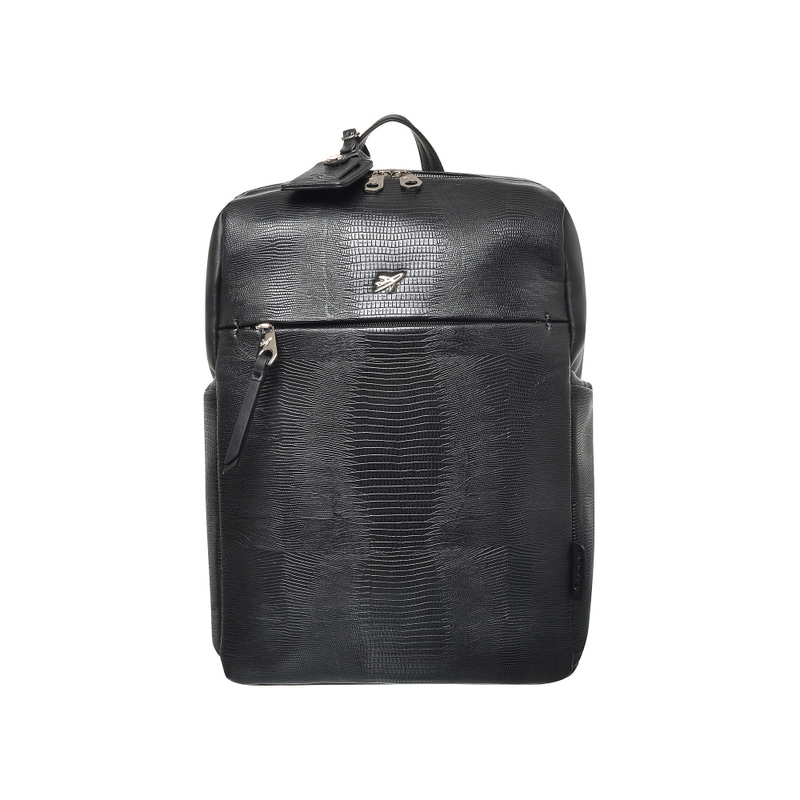 LIZARD BASIC SQUARE BACKPACK (BLACK)