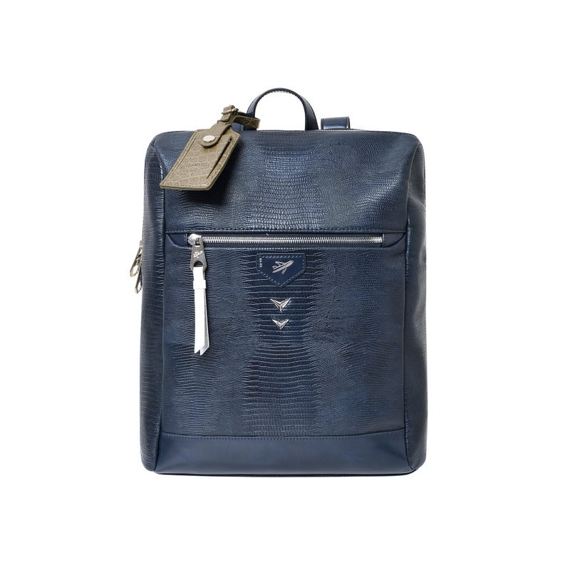LIZARD SQUARE BACKPACK (NAVY)