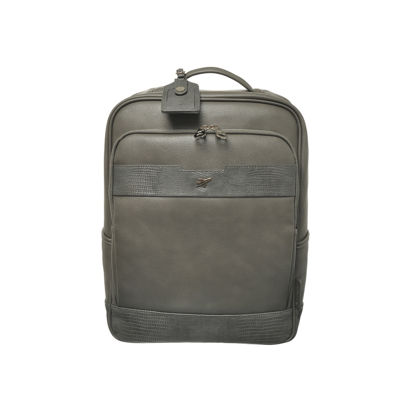 LIZARD TRIM SQUARE BACKPACK (GRAY)