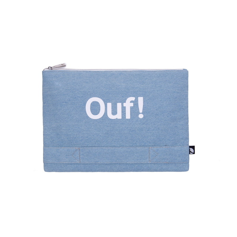 PLAYFUL CANVAS CLUTCH (INDIGO)