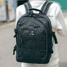 NEW-ROPE ONE POCKET BACKPACK (BLACK)